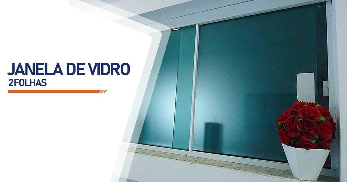 Janela De Vidro 2 Folhas Bauru