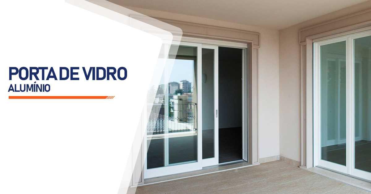 Porta De Vidro Aluminio Bauru