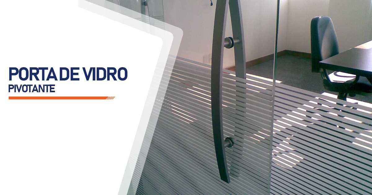 Porta Pivotante De Vidro Bauru