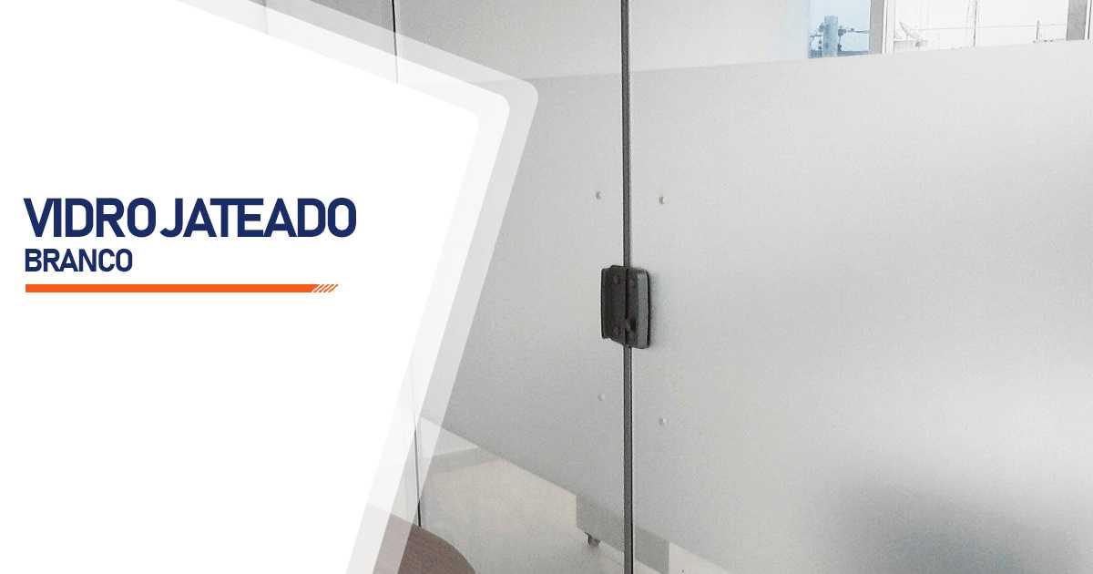 Vidro Jateado Branco Bauru